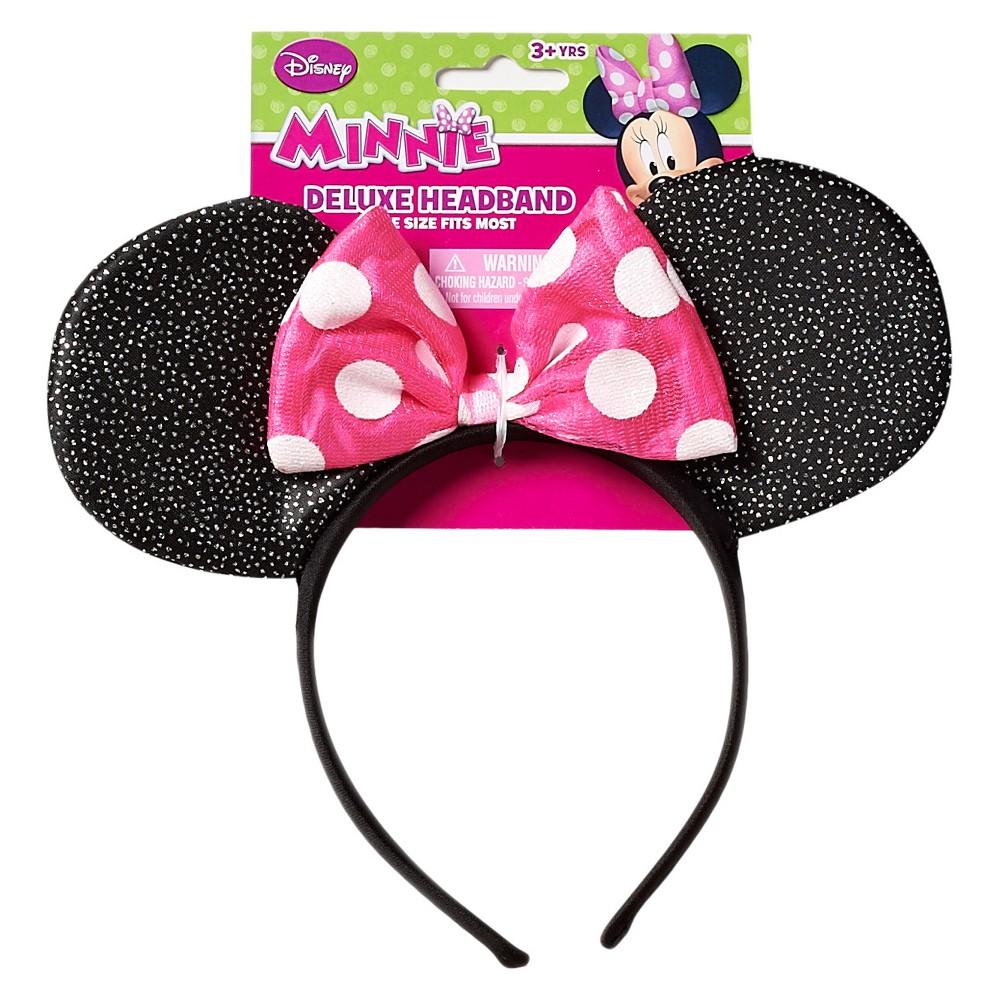Image of Disney Minnie Mouse Headband, Girl's, Pink Black