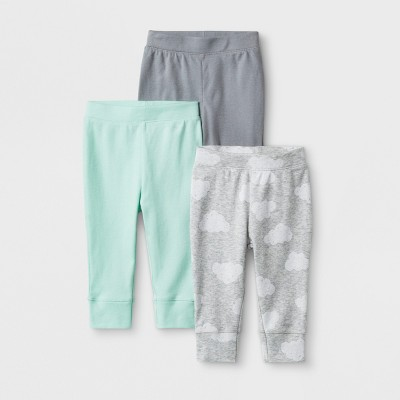 Baby 3pk Clouds Pants - Cloud Island™ Gray 0-3M