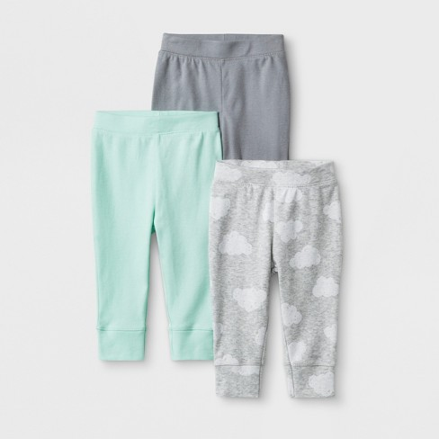 Baby 3pk Clouds Pants - Cloud Island™ Gray - image 1 of 1