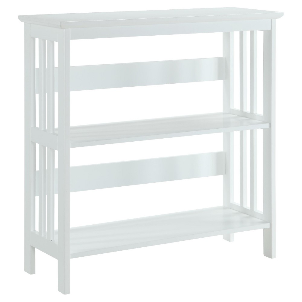 Image of 31.5 Mission 3 Tier Bookcase White - Convenience Concepts