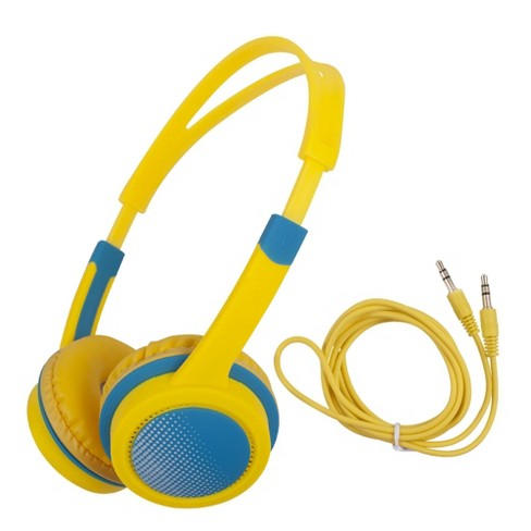 Insten Kids Headphones Wired 3.5mm On-Ear Earphones with 85dB Safe Volume Limited for Girls Boys Children, Yellow - image 1 of 4