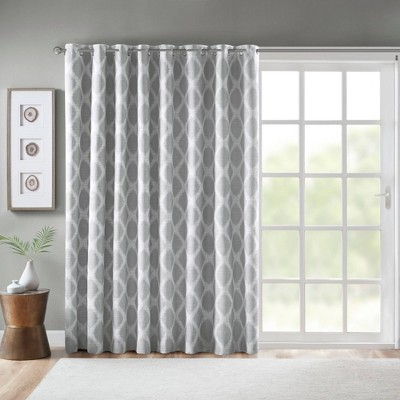 """100""""x84"""" Etro Printed Ikat Grommet Top Blackout Extra Wide Curtain"""