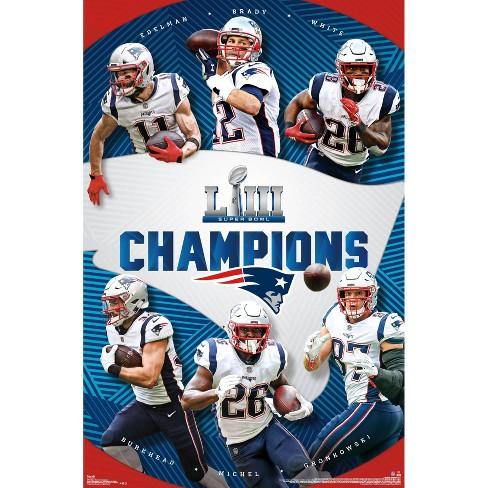 db6769df NFL New England Patriots Super Bowl LIII Champions Poster