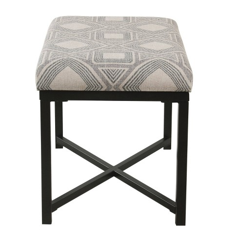 Prime X Base Ottoman Square Geometric Charcoal Homepop Creativecarmelina Interior Chair Design Creativecarmelinacom