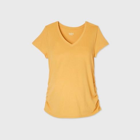 Short Sleeve V-Neck Side Shirred Maternity T-Shirt - Isabel Maternity by Ingrid & Isabel™ - image 1 of 1