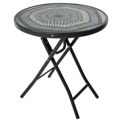 Bistro Round Folding Accent Table - Medallion - Room Essentials™