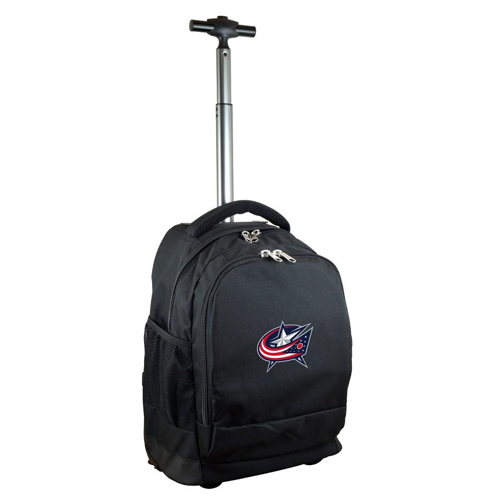 NHL Columbus Blue Jackets Mojo Wheeled Backpack - Black