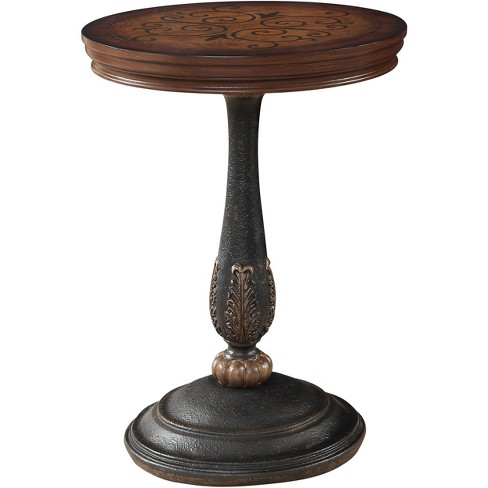 Aden Hand Inlaid Accent Table Antique Brown - Treasure Trove - image 1 of 3