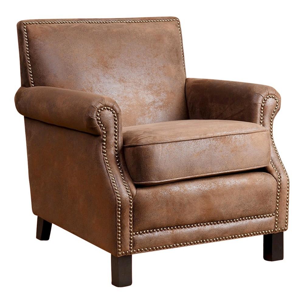 Chloe Fabric Club Chair - Antique Brown - Abbyson Living