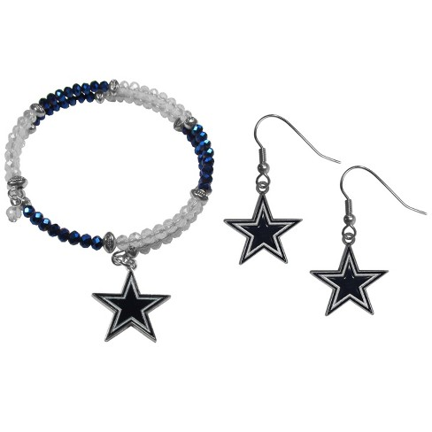 Nfl Dallas Cowboys Crystal Bracelet Earring Set