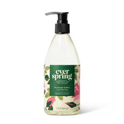 Rosewater & Mint Liquid Hand Soap - 12 fl oz - Everspring™