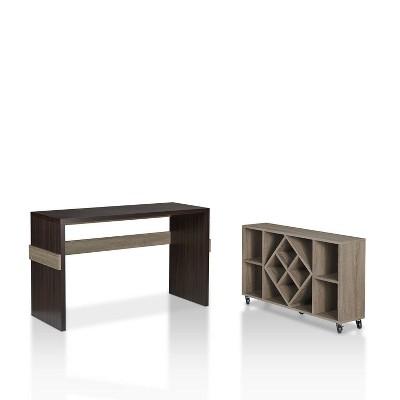 2pc Ebro Modular Desk Chestnut Brown - HOMES: Inside + Out