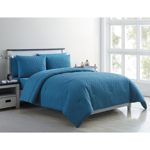 VCNY Home Mykonos Textured Geometric Bed-in-a-Bag Comforter Set - image 1 of 4