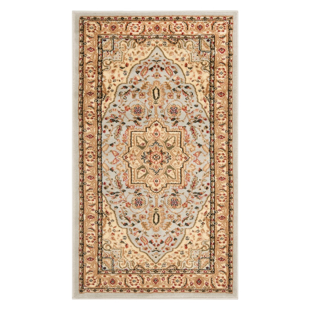 2'3X4' Medallion Loomed Accent Rug Gray/Beige - Safavieh