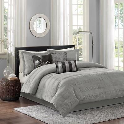 Gray Cullen Comforter Set Queen 7pc