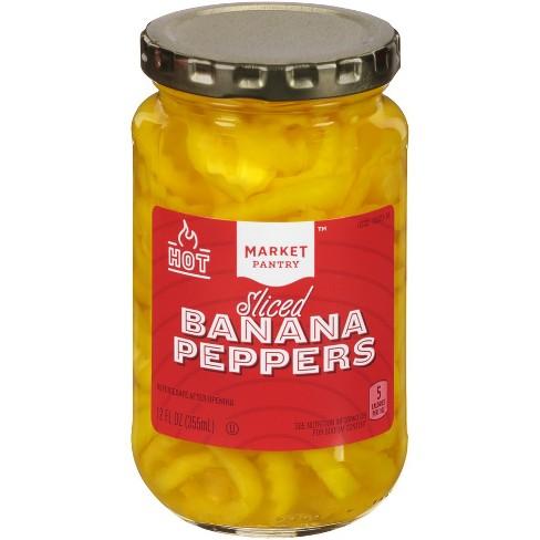 Sliced Hot Banana Pepper Rings 12oz - Market Pantry™ - image 1 of 2
