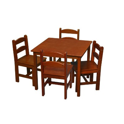 5pc Kids' Square Table and Chair Set - Gift Mark