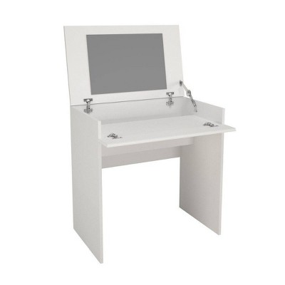Vanity or Writing Desk with Mirror White - Nexera