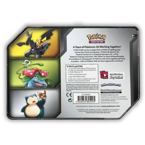 Pokemon Trading Card Game Tag Team Tins Featuring Pikachu Zekrom