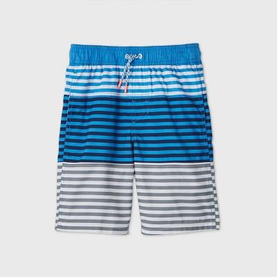 Boys' Striped Colorblock Swim Trunks - Cat & Jack™ Blue