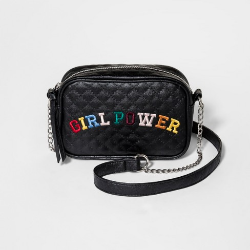 Girls' Chain Strap Crossbody Bag - art class™ Black - image 1 of 1