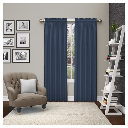 2 Piece Teller Curtain Panels - Pairs To Go - image 1 of 2