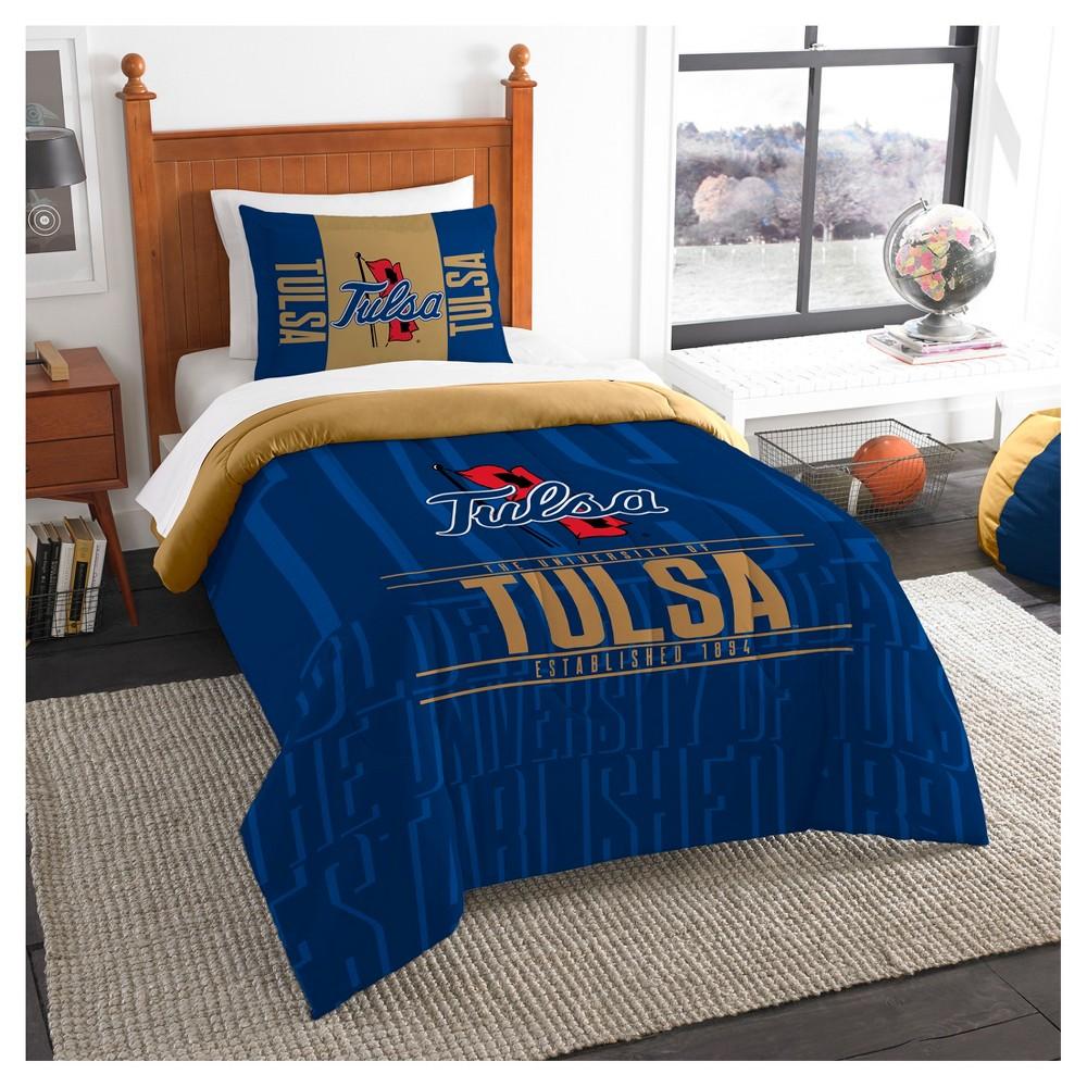 NCAA Northwest Modern Take Twin Comforter Set Tulsa Golden Hurricane - 64 x 86