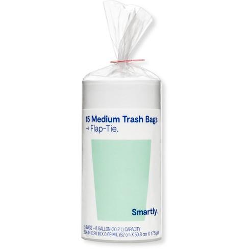 Medium Trash Bags - 8 Gallon - 15ct - Smartly™ - image 1 of 1