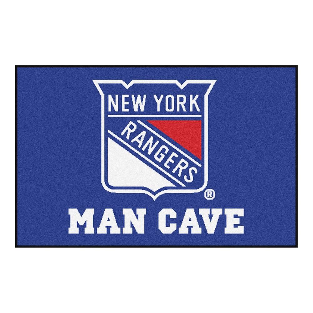 Nhl New York Rangers Man Cave Starter Rug 19 X30