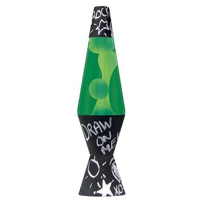 Lava Lite - Chalkboard Lamp 14.5  - Green