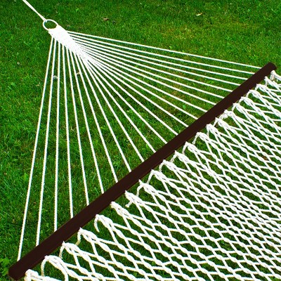 Best Choice Products 2-Person Woven Cotton Rope Double Hammock for Backyard w/ Spreader Bars, Carrying Case