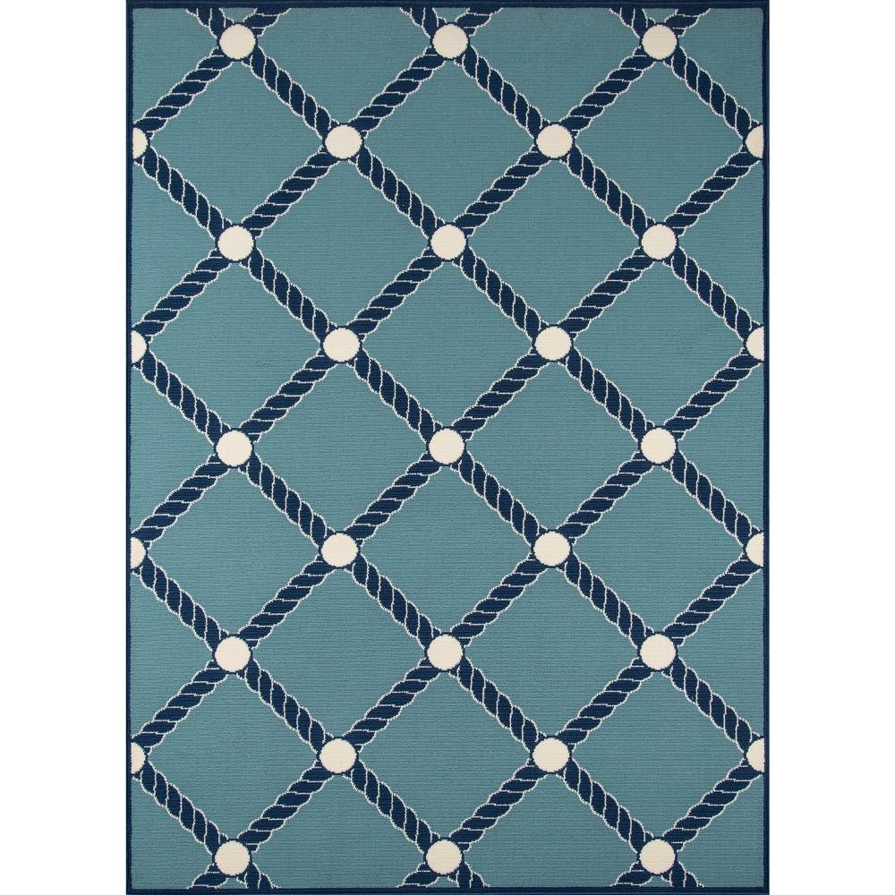 Nautical Rope Rug - Blue - (8'6x13') - Momeni