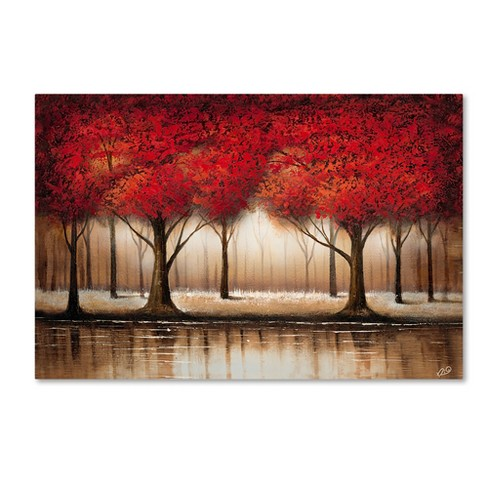 "Trademark Fine Art 16"" x 24"" Rio 'Parade of Red Trees' Canvas Art - image 1 of 1"