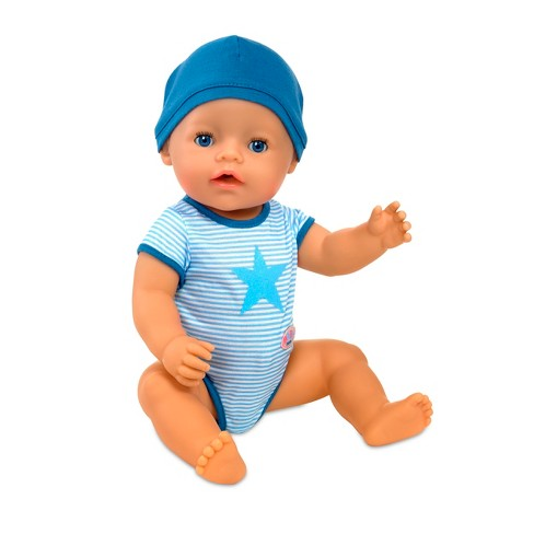 baby born interactive boy doll blue eyes target