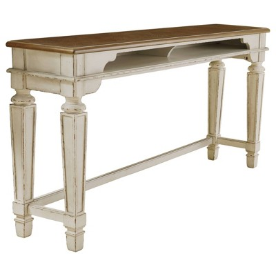 Realyn Counter Height Dining Room Table Beige - Signature Design by Ashley