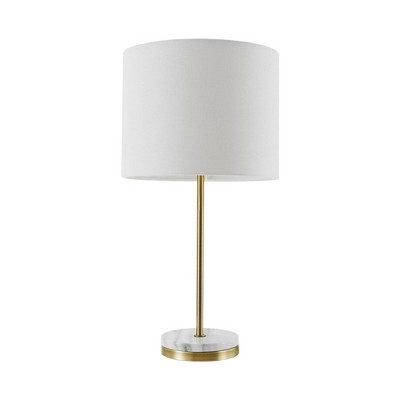 "19"" Versailles Table Lamp with Faux Marble Accent Soft Gold - Globe Electric"
