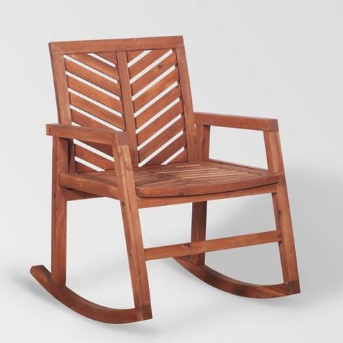 huge discount 6fa28 f44cf Chevron Outdoor Rocking Chair - Saracina Home