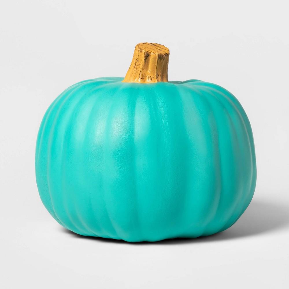 """Image of """"Halloween 9"""""""" Pumpkin Halloween Décor Teal - Hyde & EEK! Boutique , Blue"""""""