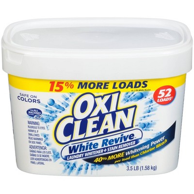 OxiClean White Revive Laundry Whitener + Stain Remover Powder - 3.5lbs