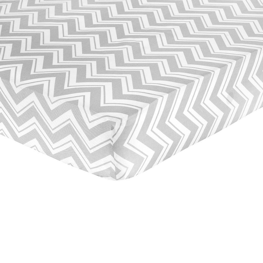 JoJo Designs Zig Zag Fitted Crib Sheet - Gray