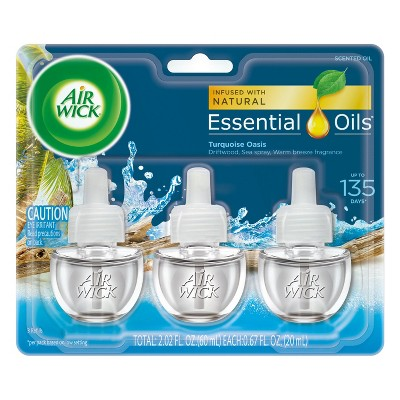 Air Wick Scented Oil, Triple Refill Turquoise Oasis 3ct, .67 oz