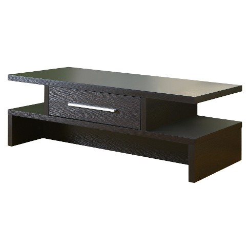 Tiki Two-Side Open Coffee Table Espresso - HOMES: Inside + Out - image 1 of 3
