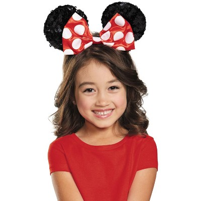Mickey Mouse Clubhouse Red Minnie Mouse Sequin Child Ears