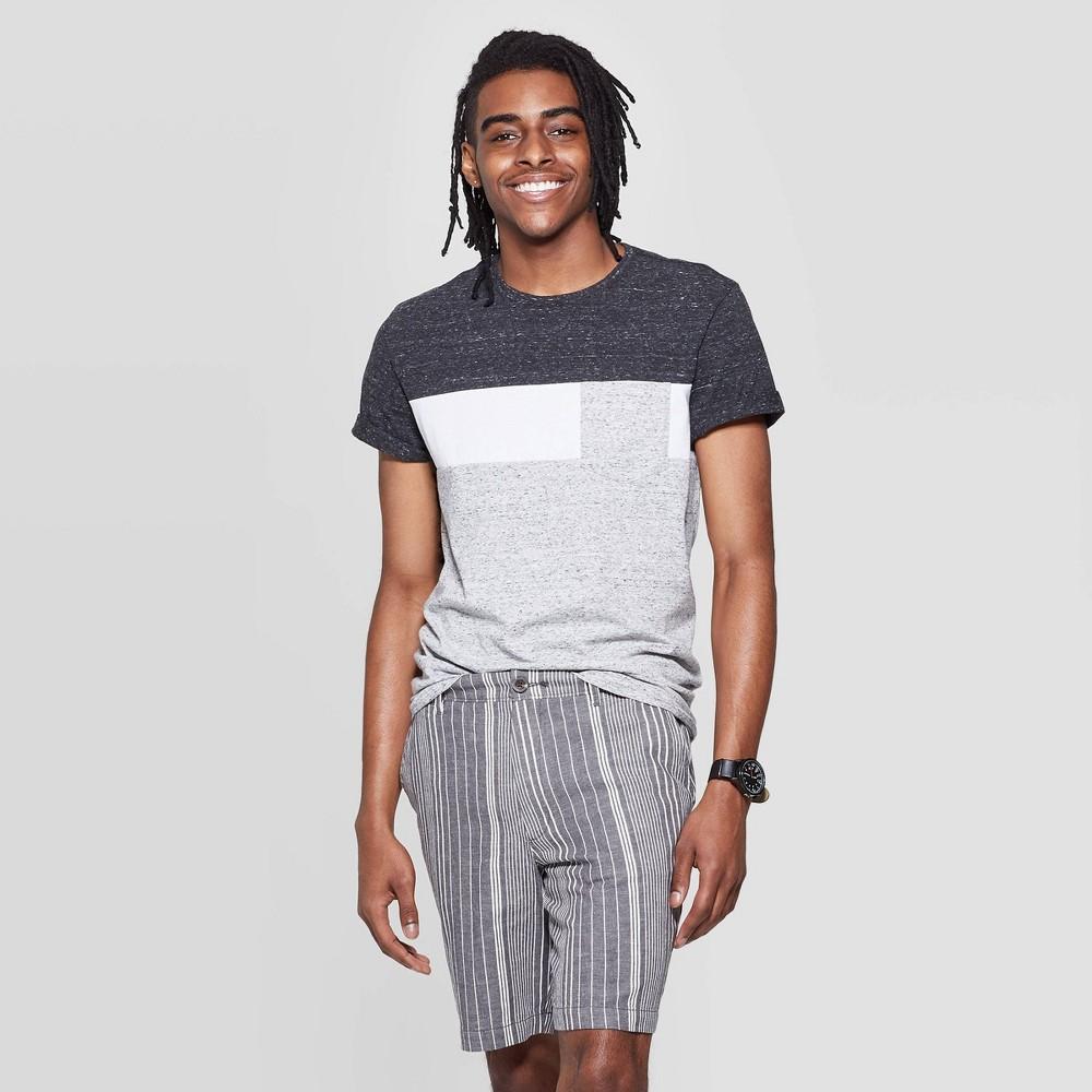 Best Discount Men Standard Fit Color Block T Shirt Goodfellow Co Black M