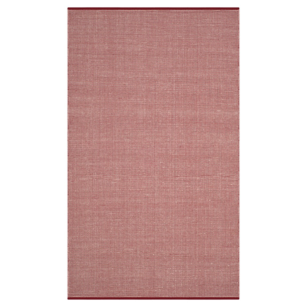 Ivory/Red Stripe Flatweave Woven Area Rug - (5'X8') - Safavieh