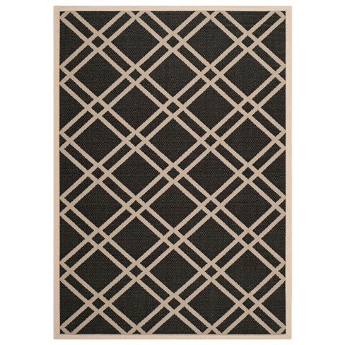 Courtyard Patio Rug - Black / Beige - Safavieh® - image 1 of 4