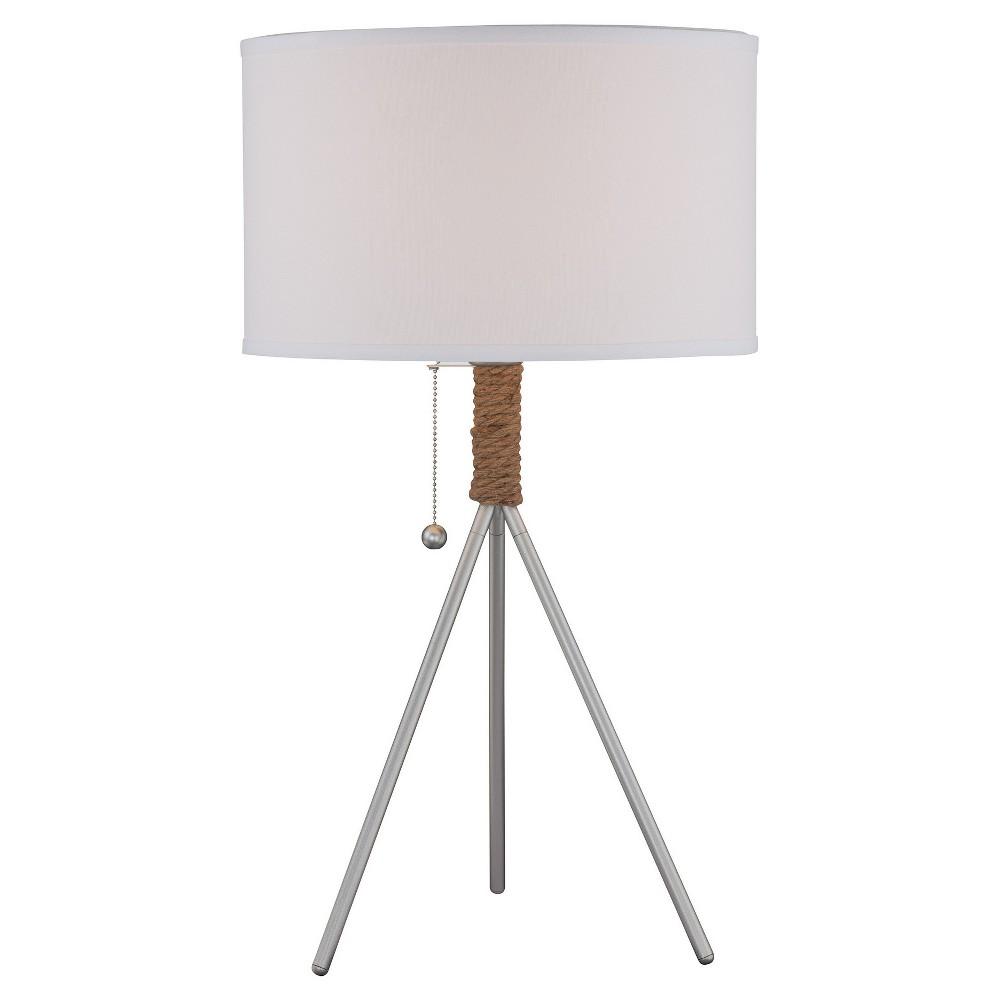 Trixie Table Lamp Silver (Includes Energy Efficient Light Bulb) - Lite Source
