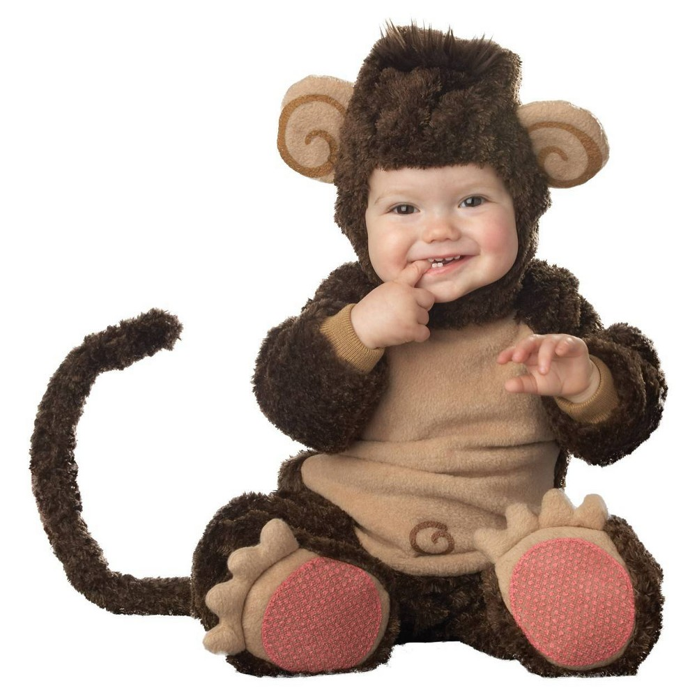 Image of Halloween Toddler Lil Monkey Character Costume 18-2 Months, Adult Unisex, Size: 3T