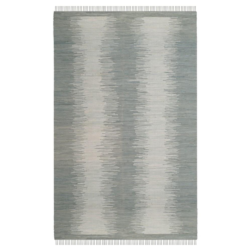 Gray Geometric Flatweave Woven Area Rug 6'X9' - Safavieh
