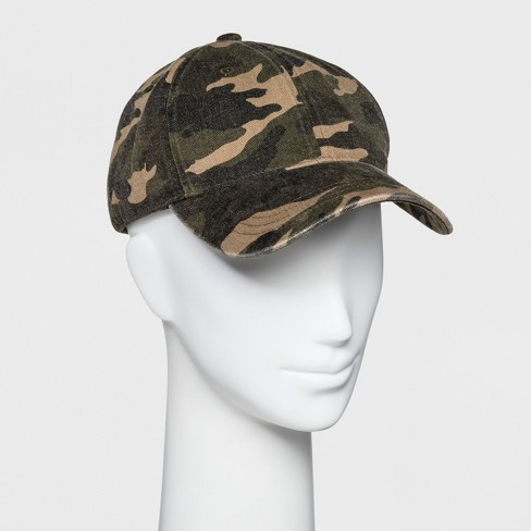 Women's Camo Print Base Hat - Wild Fable™ Green - image 1 of 2
